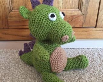 Handmade crocet dragon plush toy
