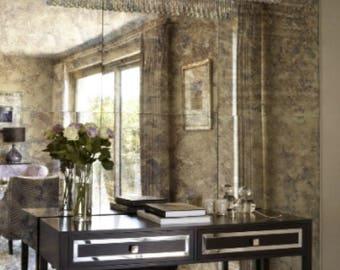 Antique Mirror Tiles Bronze  25 pcs Model A26-F020-8