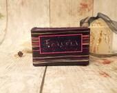 Luxury Wedding Ring Box / Double Ring Box / Engagement Ring Box / Purple ' Forever ' Wedding