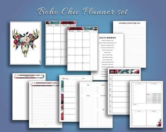 B6 (5x7) Travelers Notebook Printable insert set