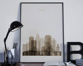 Tampa printtampa wall art florida skyline loose petals Home decor tampa
