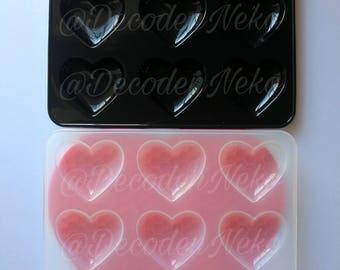 Shiny heart mold