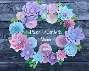 Unicorn Party Paper Flower Backdrop (customize)