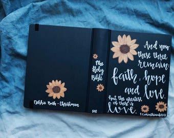 MYSTERY DESIGN • Custom Hand Painted Journaling Bible
