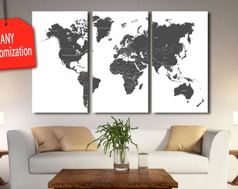 Black world map etsy sciox Image collections