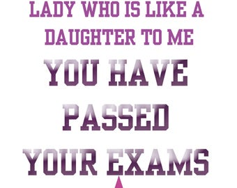 Passing Exams Like a Daughter