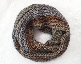 Infinity Scarf | Crochet Infinity Scarf | Chunky Scarf | Circle Scarf | Winter Scarf | Multicolor Scarf | Wool Scarf