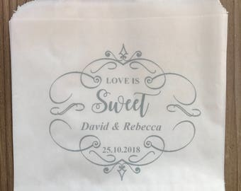 Personalised Wedding Sweet Favour Bags