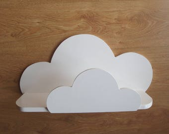 A large cloud shelf with rounded corners