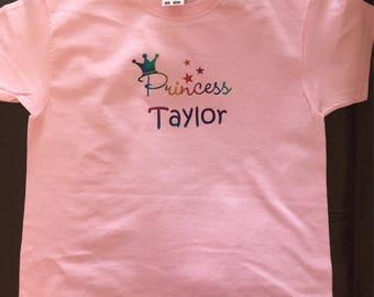 Personalised Princess T shirt