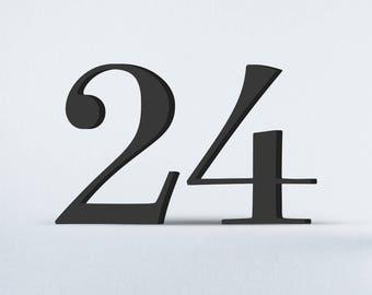 Flat Cut Acrylic House Numbers - Surveyor Book