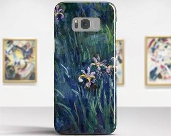 """Claude Monet, """"Irises"""". LG, Samsung, etc phone case. LG V30 phone case. LG G6 G5 phone case. Huawei, Google phone case. Art phone case."""