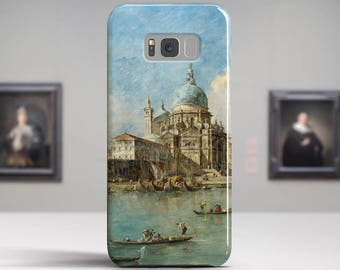 "Guardi ""Venice: The Punta della Dogana"". Samsung S8 Case, Samsung S7 Case, Samsung S6 Case, Huawei, LG, Google Pixel Cases. Art phone cases."