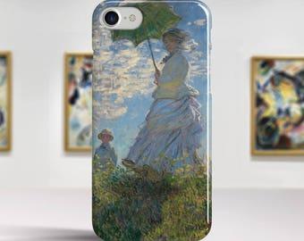 "Claude Monet, ""Woman with a Parasol"". iPhone 7 Case Art iPhone 6 Case iPhone 8 Plus Case and more. iPhone 7 TOUGH cases. Art iphone cases."