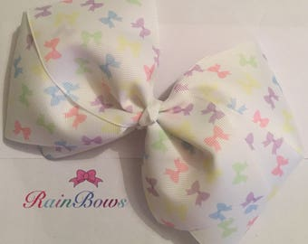 Large Pastel Bows Boutique Bow