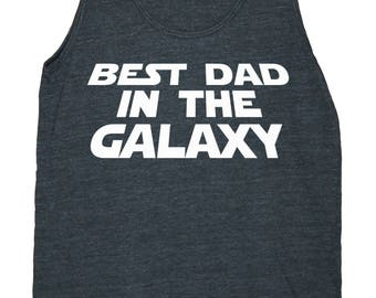 Best Dad In The Galaxy Men's American Apparel Tank Top