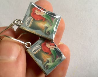 Miniature Book earrings, The Little Mermaid