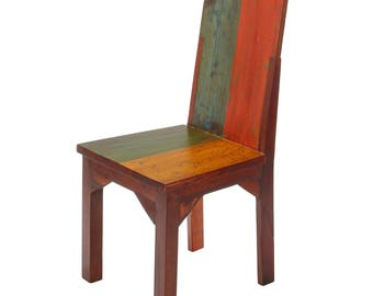 Dynasty Reclaimed Wood High Back Dining Chair