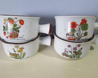 Vintage stoneware single crocks.