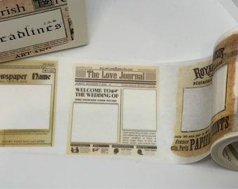 Newspaper Headers Washi