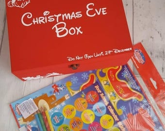 Personalised Christmas Eve Box with Activity Set