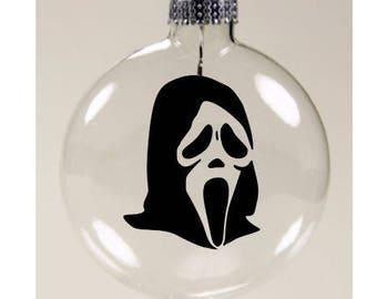 Scream Ghostface  Christmas Ornament Glass Disc Holiday Horror Merch Massacre
