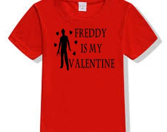 Nightmare on Elm Street Freddy Krueger Valentine's Day T Shirt Clothes Many Sizes Colors Custom Horror Halloween Merch Massacre