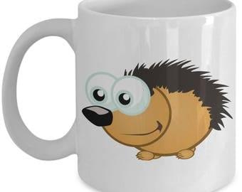 Googly Eyed Hedgehog Funny Mug