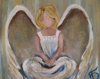 Blonde Sitting Angel