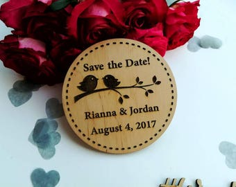 Save the date wood postcard Personalised wooden save the date magnet Rustic summer wedding save the date Card Engraved Magnet Custom