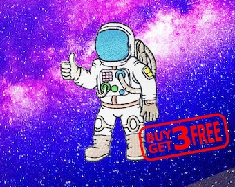 Spaceman Astronaut Applique IRON ON PATCH funny patches Badge Astronaut Patch