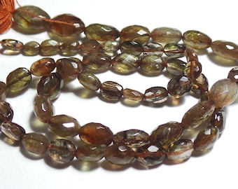 Super Top Quality Natural Andalusite 4x3-10x7 MM Faceted Nuggets Shape  14 Inch Strand