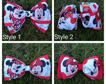 Handmade Minnie Mouse hair bow