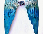 CHOOSE your COLORS, Angel Wings, Large Wings, Metal Wall Decor, In Memory, Religious Symbol, Mother's Day Gift, Metal Angel Wings, Metal Art