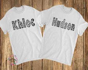 Personalized Coloring Shirts for Kids, Personalized Coloring Shirts for Adults