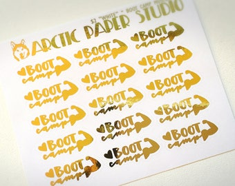 Boot Camp MUSCLE  - FOILED Sampler Event Icons Planner Stickers