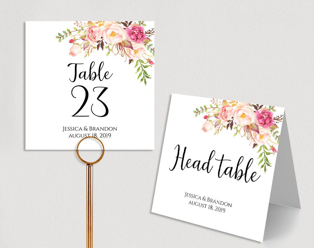 personalized table numbers printable wedding table numbers wedding