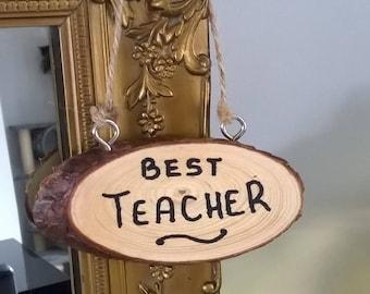 Hanging Wood slice Gift For Teachers