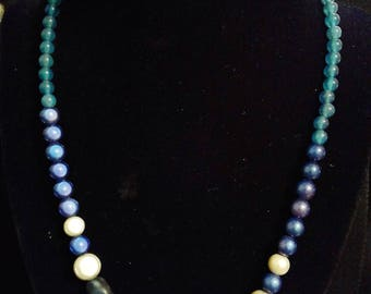 Three Shaded Blue Necklace
