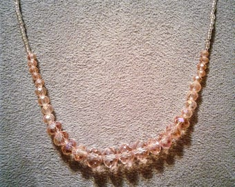 Light Pink Beaded Necklace #28
