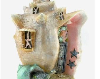 Fairy Garden Miniature Dollhouse Conch Condo Shell House