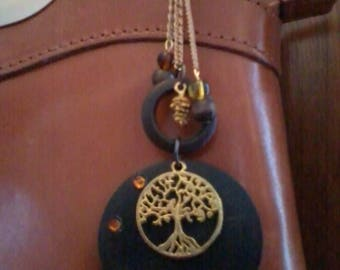Jewelry bag spirit of nature wood and tree of life