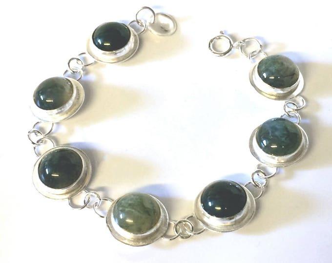 Moss Agate Stone Set Bracelet