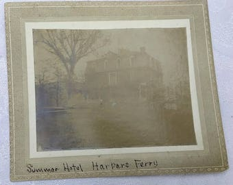 Antique Cabinet Real Photo of the Summer Hotel in Harpers Ferry West Virginia WV
