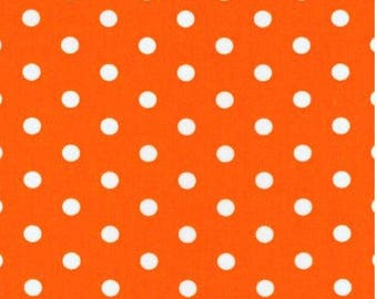 FREE GIFT with Purchase - Robert Kaufman Polka Dots on Orange/Cotton/Fabric/Sewing/Quilting