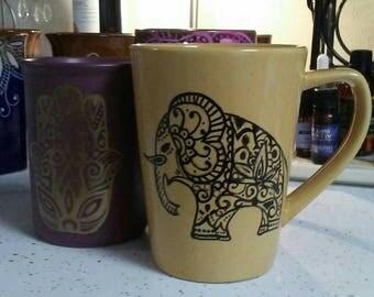 Ganesh Mug, Hand Painted