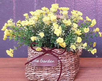 Pretty artificial flower basket /  Table flowers / Flower basket centerpiece / Flower Arrangements / Home Decoration