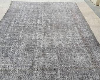 Carpet.308x2060cm,10.2x6.76.Turkish carpet grey,Rug,grey rug,Turkish grey rug, free shipping