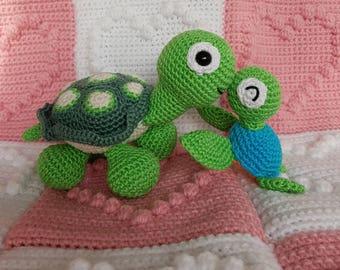 Cute crocheted turtles süß amigurumi gehäkelt schildkröte gift idea geschenk idee