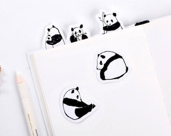15 Panda Stickers - Cute Planner Stickers - Diary - Bullet Journal - Animal